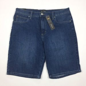 LEE Relaxed Fit Mid Rise Bermuda Jean Shorts